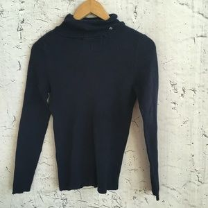 RALPH LAUREN DARK BLUE TURTLE NECK SWEATER M